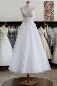 KRYSZTAŁY SVAROWSKI biała suknia ślubna Madleine Poznań